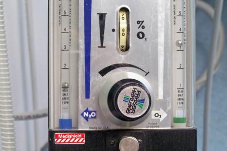 5. Macchina per la sedazione impostata su una percentuale di N2O del 20%.