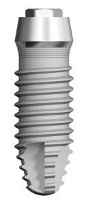 1. Il segmento transgengivale del Vertical Neck® ha le pareti dritte e convergenti.