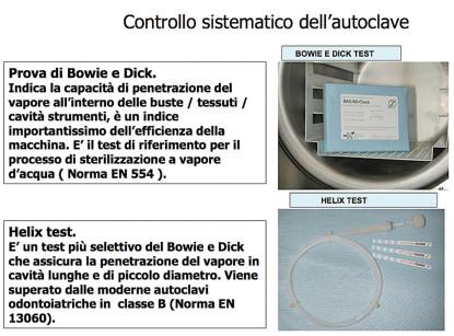 12. Helix test e prova di Bowie e Dick.