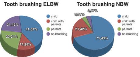 3. Tipo di igiene orale nel gruppo ELBW e in quello di controllo.