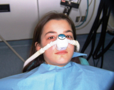 3. La piccola paziente è stata curata in sedazione cosciente con protossido d'azoto.