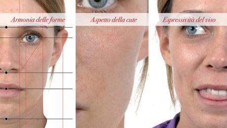 1. Un moderno approccio all'estetica del viso nella sua globalità si articola in 3 momenti: studio delle forme e delle proporzioni del viso, analisi della cute del viso, osservazione delle espressioni del viso