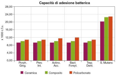 6. Capacità di adesione batterica