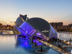 Una delle più scenografiche location di Valencia, l'Hemisfèric,